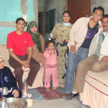 My new friend Ebrahim and his family